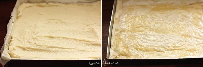 Placinta greceasca cu crema de gris in tava