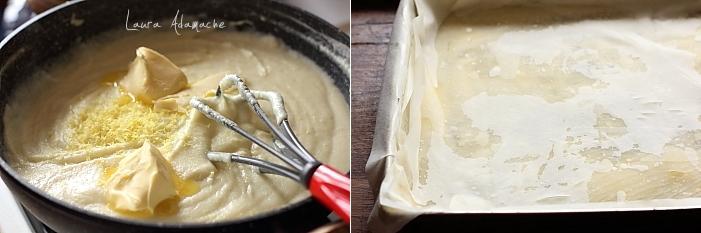 Placinta greceasca cu crema de gris preparare crema
