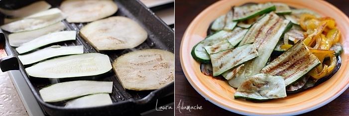 Placinta la tigaie cu ton si legume preparare