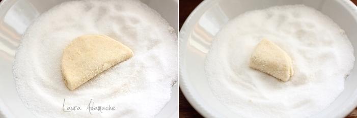 Biscuiti cu ricotta si lamaie preparare detaliu
