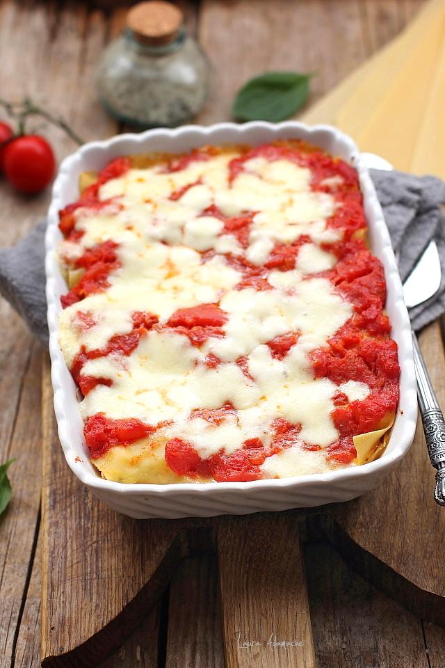 Cannelloni cu ton si mozzarella copti