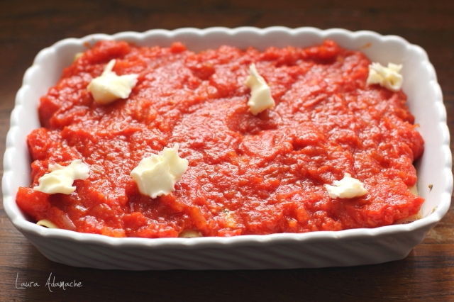Cannelloni cu ton si mozzarella cu sos de rosii