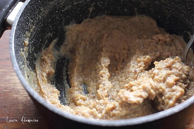 Prajitura Lacrima de elefant preparare crema nuci