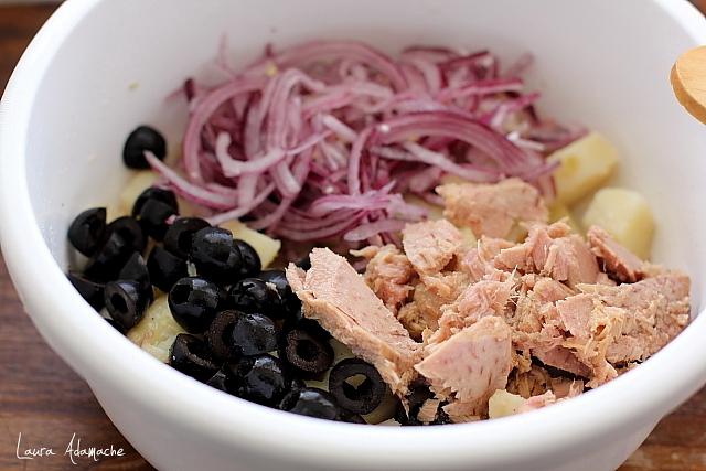 Salata orientala cu ton preparare