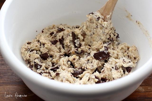 Biscuiti de post cu ciocolata detaliu