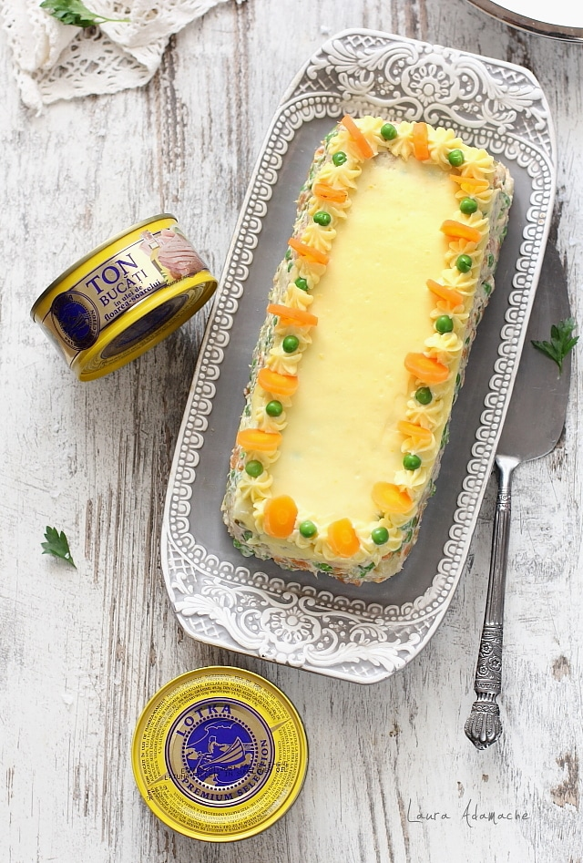 Salata ruseasca cu ton Lotka aperitiv