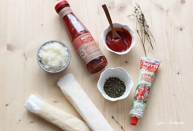 Ingrediente pentru aperitiv cu foietaj