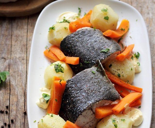 Rasol de peste proaspat cu legume (morcovi si cartofi)