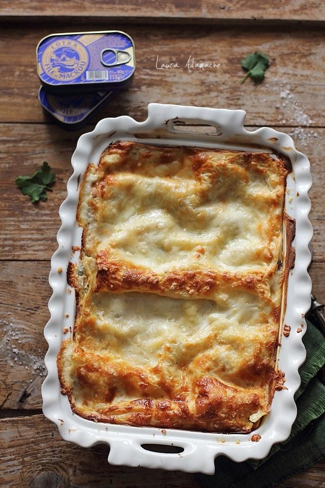 Lasagna cu legume si macrou detaliu