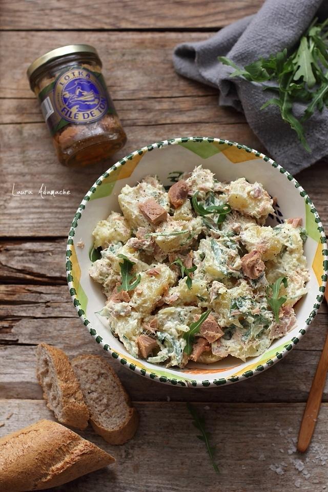 Salata de cartofi detaliu