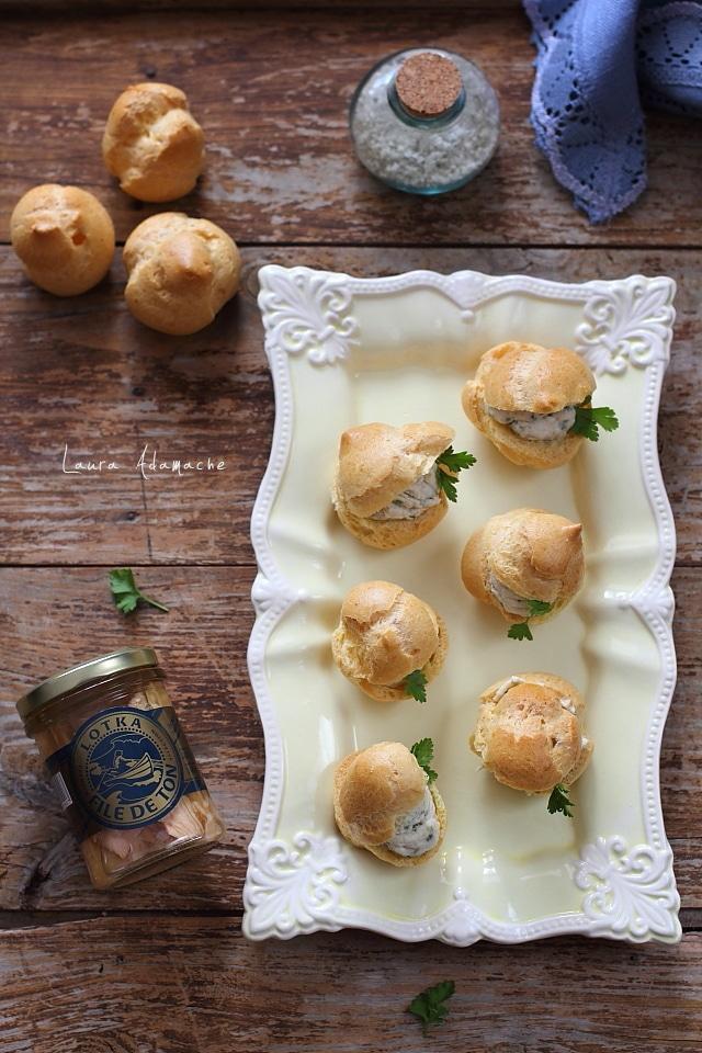 Choux sarate aperitiv detaliu