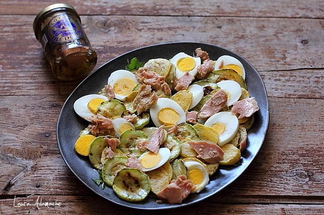 salata de ton cu dovlecei preparare