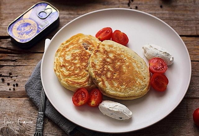 pancakes sarate cu macrou detaliu