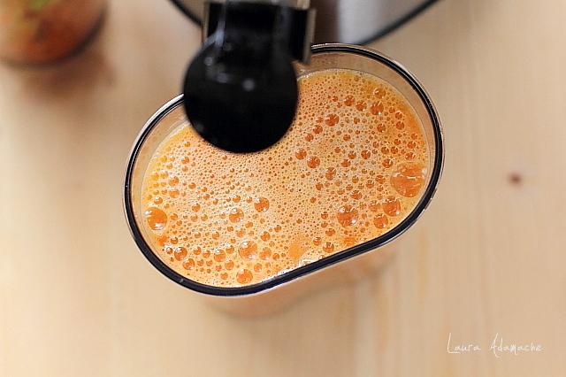 suc natural cu mango si papaya preparare
