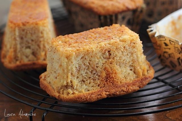 muffins cu banane si iaurt detaliu