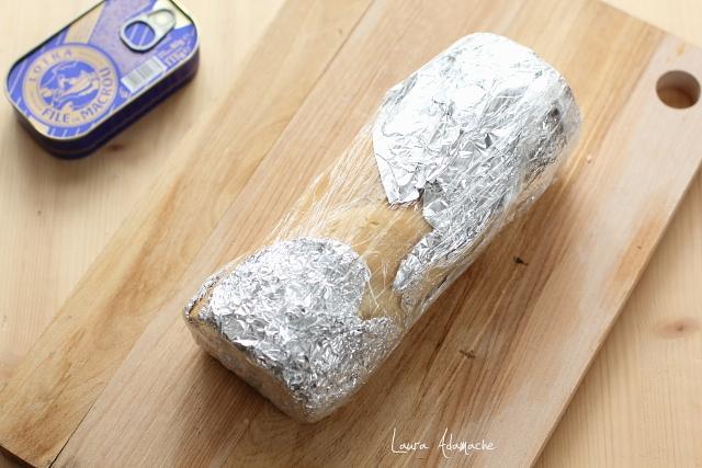 bagheta umpluta cu crema de macrou preparare