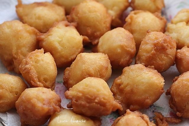 gogosele pufoase cu mere prajire