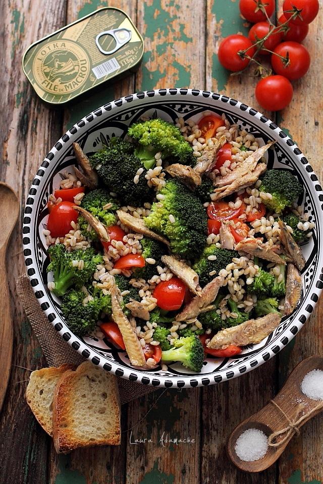salata cu broccoli detaliu