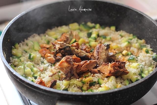 risotto cu dovlecei preparare